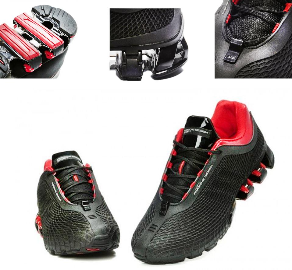 Черно-красные кроссовки Adidas Porsche Design P'5000 (black/red)